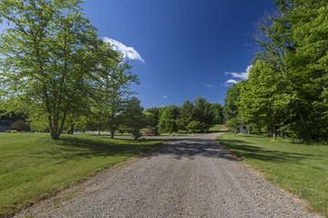Fototapeta na wymiar Private lac, garden, landscape in Buchanan, Michigan in Florida