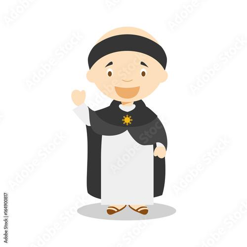 Saint Thomas of Aquino cartoon character Canvas Print