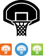 Basketball Goal Icon - Illustration