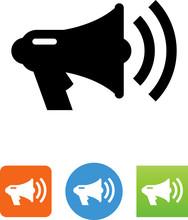 Bullhorn Megaphone Icon - Illu...