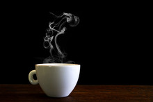 White Coffee Cup With Steam