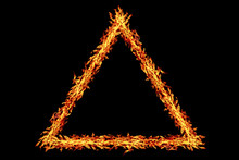Triangle Fire Frame Isolated O...