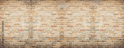 Foto auf Gartenposter Ziegelmauer brick wall background