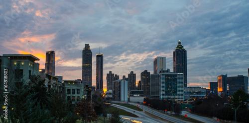 Obraz na dibondzie (fotoboard) Wyrównany - Atlanta, Ga. - Z Jackson Street Bridge