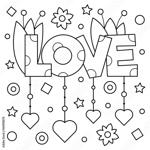 coloring-page-vector-illustra