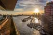 Hamburger Hafen, von der Plaza der Elbphilharmonie aus gesehen