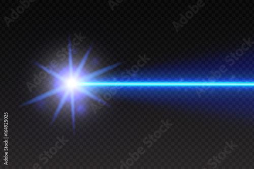 Valokuva Abstract green laser beam