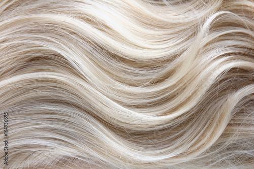 Fotografía  Female blonde curly  hair texture