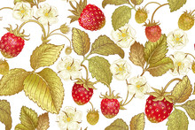 Botanical Seamless Pattern Wit...