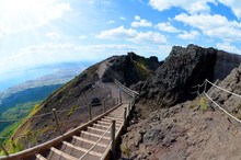 Hiking Trail On Vesuvius Volca...