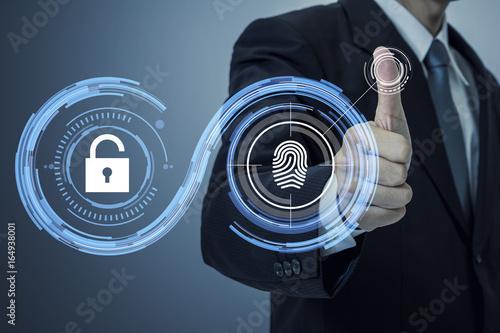 fingerprint authentication Canvas Print