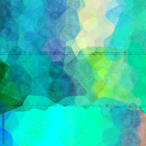 Fotografía  interesting uneven colorful background texture with blue green colors blend