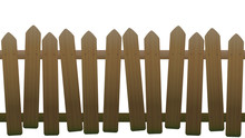 Old, Unsteady, Crooked Fence W...