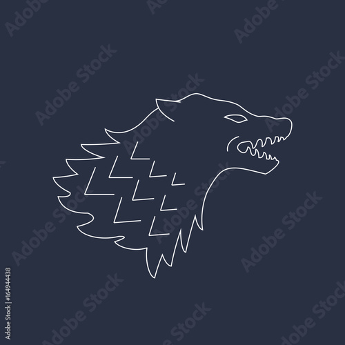 Photo Wolf head. Vector illustrations. Abstract icon