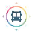 buntes Symbol - Bus