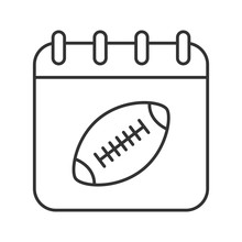 Super Bowl Date Linear Icon