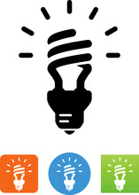 CFL Bulb Icon - Illustration