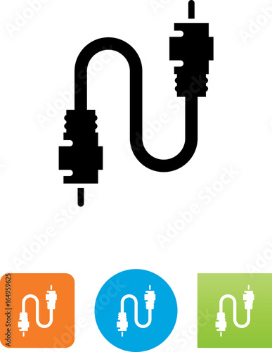 Fotomural  Coaxial Cable Icon - Illustration