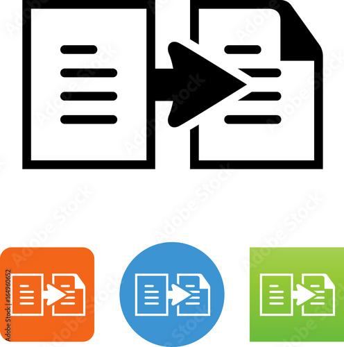 Fotografie, Obraz  Copy Document Icon - Illustration