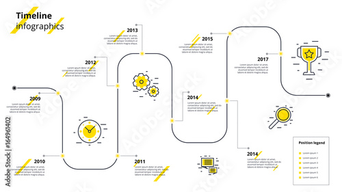 Business timeline workflow infographics Wallpaper Mural