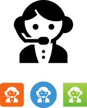 Customer Service Representative Icon - Illustration