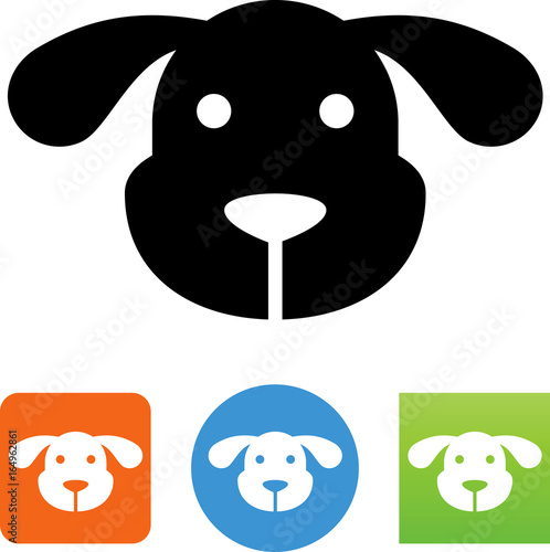 Fotografia, Obraz  Dog Face Icon - Illustration
