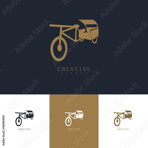 Vászonkép  rickshaw logo