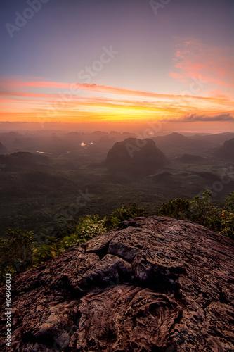 Canvas Prints Akt Viewpoint Sunset khao ngon nak at Krabi,Thailand.