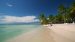 Hot Summer day on tropical island Saona, Dominican Republic, travel concept