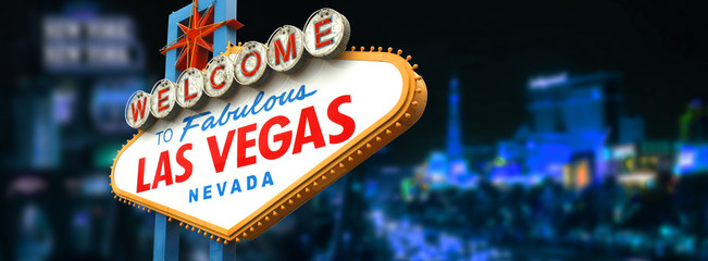 Fototapeta Welcome to fabulous Las Vegas sign