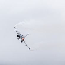 Swedish Air Force JAS 39 Gripen Pulling Away After Takeoff
