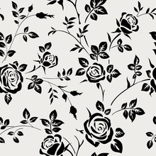 Seamless Pattern With Black Ro...