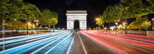 Poster Paris Arc de Triompe Panorama in Paris, Frankreich