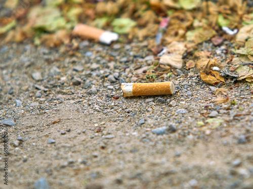 Fotografie, Obraz cigarette butts. Smoking is harmful to health.