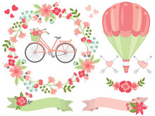 Vector Romantic Pastel Floral ...