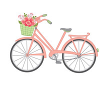 Vector Bicycle With Floral Bas...