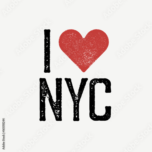 i love nyc vintage lettering retro poster t shirt print design