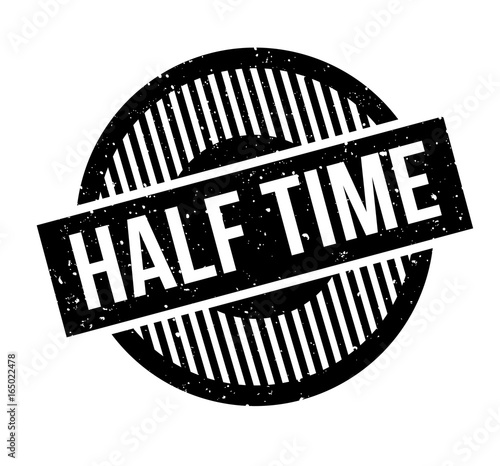 Photo Half Time rubber stamp
