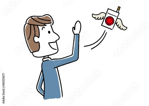 Fotografie, Obraz 禁煙を成功する男性