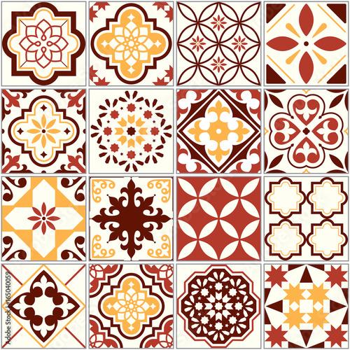 portugalskie-plytki-wektorowe-wzor-sztuki-lizbony-srodziemnomorski-ornament-bez-szwu-w-kolorze-brazowym-i-zoltym