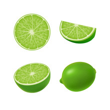 Set Of Isolated Colored Green ...