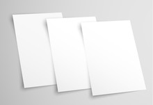 White Blank A4 Paper. Template...