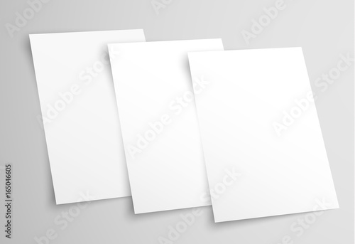 White Blank A4 Paper Templates For Presentation Of The Design Of A