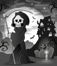 Black And White Grim Reaper Th...