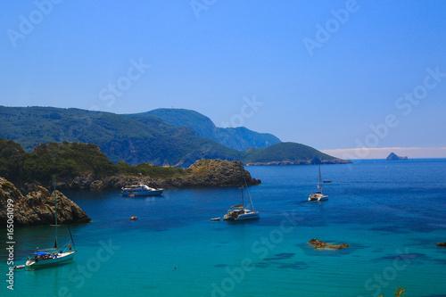 Photo Stands Caribbean Scenes of Corfu, Greece