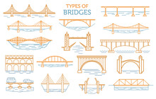 Types Of Bridges. Linear Style...