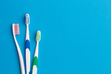 Colorful Toothbrushes, Place For Inscription
