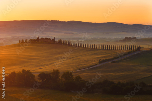 Deurstickers Toscane Tuscany is a beautiful, very photogenic landscape in central Italy