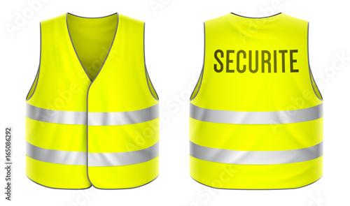 Obraz na plátně Gilet de sécurité vectoriel 3
