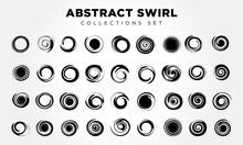 Spiral Movement And Rotation Design Elements Set